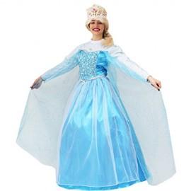 VESTITO COSTUME Maschera di CARNEVALE - Principessa ELSA - FROZEN - ADULTI