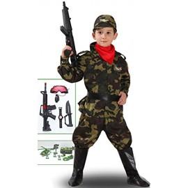 VESTITO COSTUME Maschera di CARNEVALE baby - Soldato MILITARE