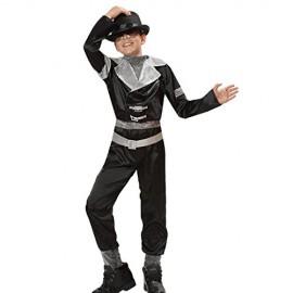 VESTITO COSTUME Maschera di CARNEVALE bambino - MICHAEL Jackson SUPER STAR