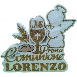 Scritta Prima Comunione POLISTIROLO Personalizzata con Nome Maschio Femmina Colore Oro Standard Marca: ARDITO MICHELE