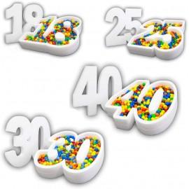 Portaconfetti Polistirolo Personalizzabile Numero