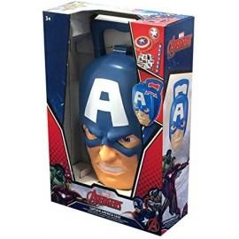 Valigetta Capitan America con Frisbee, Braccialetto Slap e Stickers Marvel
