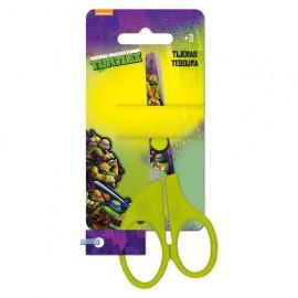 Forbici per bambini Tartarughe Ninja con punta tonda. Impugnatura per mancini.