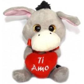 PELOUCHE PUPAZZO SWEET HEART CIUCHINO CON CUORE CM 15