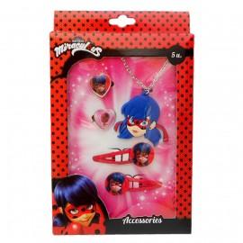 Set di gioielli e accessori per capelli Miraculous Ladybug Disney