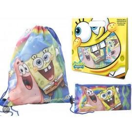 Set regalo Spongebob Sacca+ Astuccio Scuola