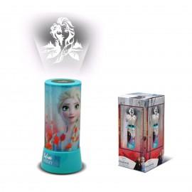 Lampada da notte comodino Disney Frozen II luce proiettore a LED BAMBINA CAMERA