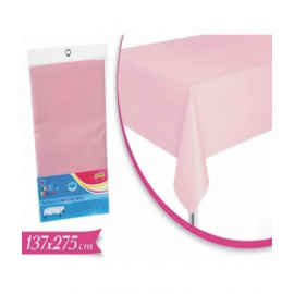 Bella Tovaglia Di Plastica Rosa /Bianco Crema274 Cm X 137 Cm