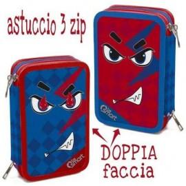 ASTUCCIO TRIPLO DOUBLE ANGRY BE SMART 1/24 Giotto completo accessori originali