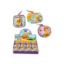box da 24 Portachiave portamonete latta Disney Winnie The Pooh CM 8 Regalini fine festa