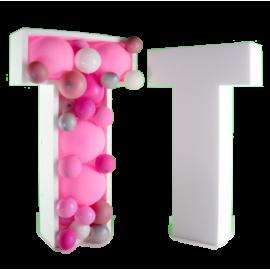 Balloon Box Lettere  compleanno feste e party altezza 80 cm
