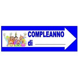 CARTELLO FESTONE COMPLEANNO DI........ IDEA REGALO PER FESTE & PARTY