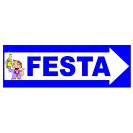 CARTELLO FESTONE FESTA. IDEA REGALO PER FESTE & PARTY
