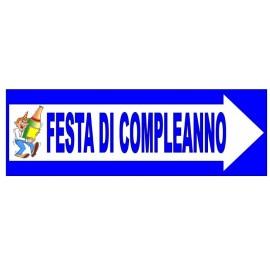 CARTELLO FESTONE FESTA COMPLEANNO. IDEA REGALO PER FESTE & PARTY