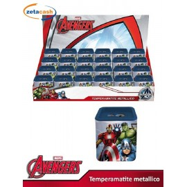 TEMPERAMATITE QUADRATO AVENGERS MARVEL  IN LATTA DUE FORI