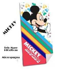TELO MARE MICKEY ASCIUGAMANO DISNEY TOPOLINO IN MICROSPUGNA CM. 140X70