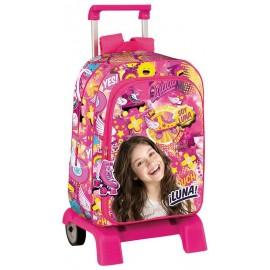 Disney Soy Luna Trolley e Zaino Scuola  Separabile - Bambina - Prodotto Originale