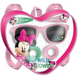 Borsetta cuore Minnie Set zaino + occhiali + accessori capelli Disney