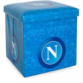 Pouf contenitore salvaspazio con seduta imbottita SSC Napoli