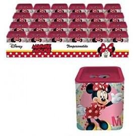 Temperino Scuola latta Disney quadrato doppio foro Minnie Bambina