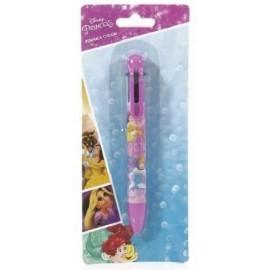Penna in blister Principesse a sei colori con laccio Disney Bambina