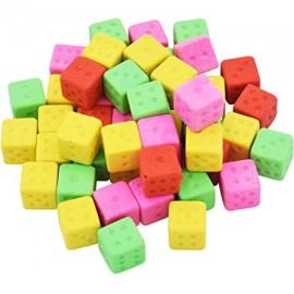 Dado Gomma da Cancellare di Multicolore 50 pz Regalino per Bambini