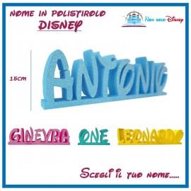Scritta in Polistirolo 3d caratteri Disney festa compleanno nascita battesimo Party