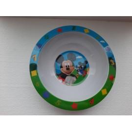 Piatto pappa Melamina Disney Topolino cm 18 coppetta scuola e tempo libero Mickey Mouse