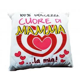 FESTA DELLA MAMMA Cuscino Quadrato 100% cuore di mamma idea regalo 40x40cm