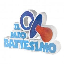 CIUCCIO ADDOBBO TAVOLA IL MIO BATTESIMO. FESTA EVENTI BAMBINO/BAMBINA 40X25X5