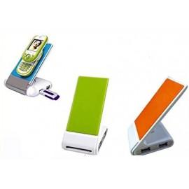 Caricatore USB a 4 porte e supporto per telefono regolabile  per organizzare la tua scrivania