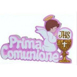 Scritta Prima Comunione POLISTIROLO  centro tavola addobbo 40X25 CM