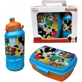 Set Mickey Mouse Disney Topolino Borraccia Sport + PORTAMERENDA in Confezione