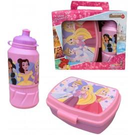 Set Principesse Disney Ariel Cenerentola Rapunzel Biancaneve Jasmine Borraccia + PORTAMERENDA in Confezione
