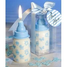 Bomboniera candela forma biberon color celeste/Rosa IDEA REGALO COMPLEANNO NATALE BATTESIMO COMUNIONE CRESIMA