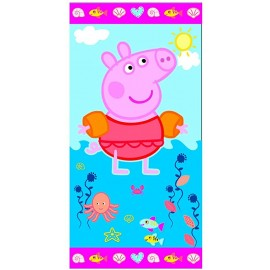 TELO MARE/PISCINA PEPPA PIG ASCIUGAMANO IN COTONE CM. 140X70