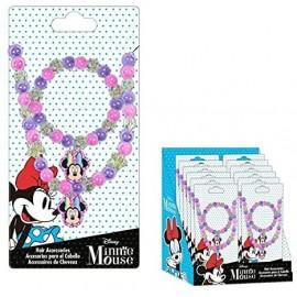 Diseny- Set collana e bracciale con perline Minnie Mouse Bambina