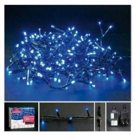 Luci di Natale 180 led blu 8 f esterno collegabile mt 11