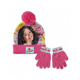 Disney Set 2 pezzi cappello + guanti  invernali Soy Luna Bambina