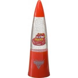 CARS DISNEY lampada lava con brillantini Bambina Glitter A Led cm15