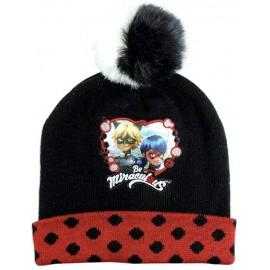 Cappello Invernale con Pon Pon Disney Lady Bugs Bambina Miraculus tg 54