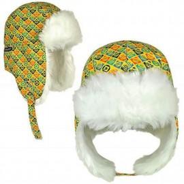 Cappello  Invernale Russo Con Pelliccia Per Bambino Minions Taglia Unica Con Copri Orecchie